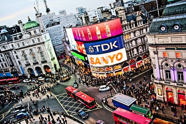 Piccadilly Circus dall'alto