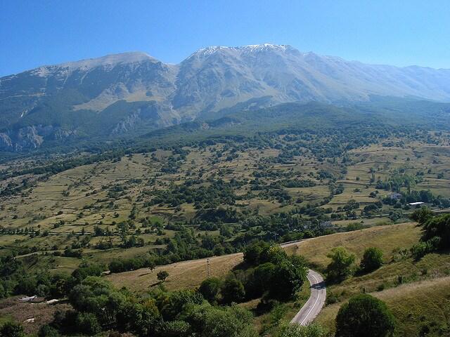 Roccacaramanico, vista sulla Majella