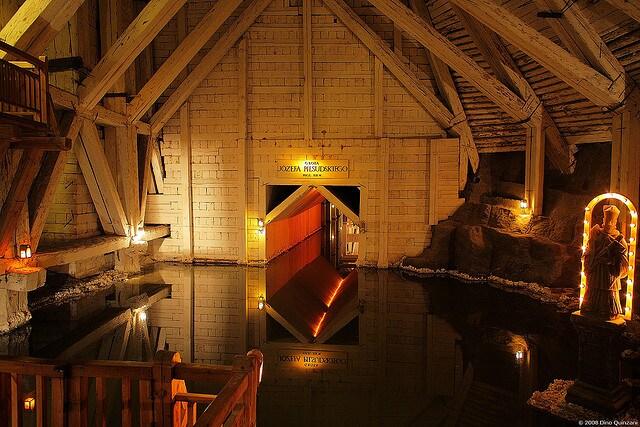 Miniera di sale di Wieliczka, lago sotterraneo