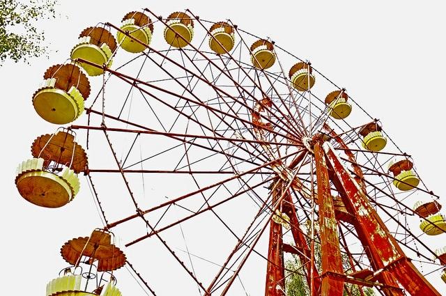 La ruota del parco giochi di Pripyat (Foto di Jennifer Boyer).