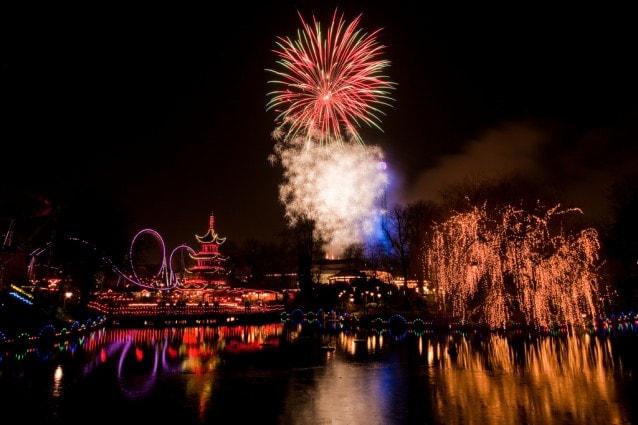 Fuochi d'artificio sui Giardini di Tivoli