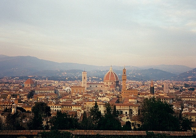Firenze da San Miniato al Monte. Foto di Hideyuki Kamon