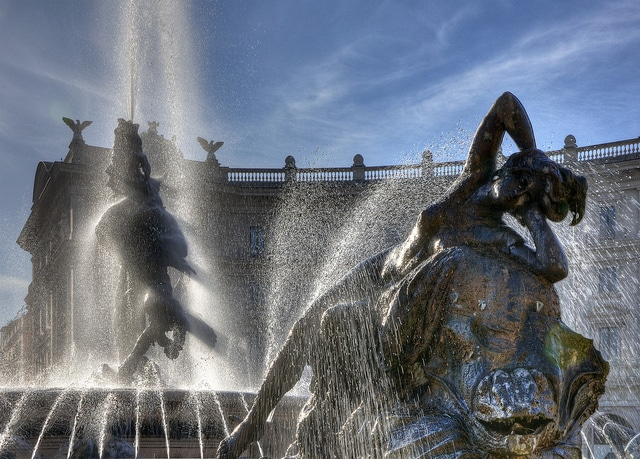Fontana delle Naiadi in piazza della Repubblica. Foto di Giorgio Galeotti