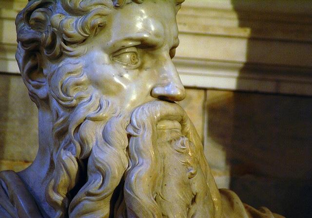 Mosè di Michelangelo. Foto di Giovanni