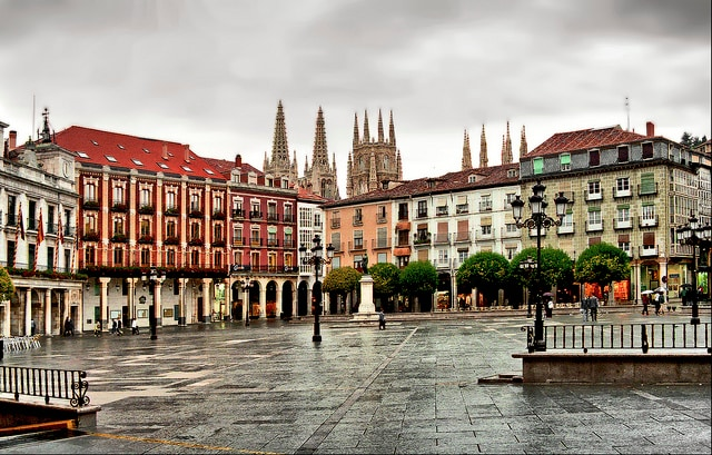 Burgos, Plaza Mayor (foto di Jim Anzalone)