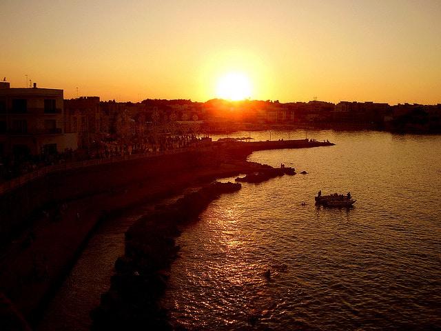 Tramonto a Porto Cesareo (foto di Raffaele Birnardo)