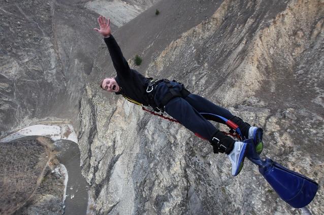 Bungee–jumping da 134 metri di altezza (Foto di David Rogers/Getty Images)