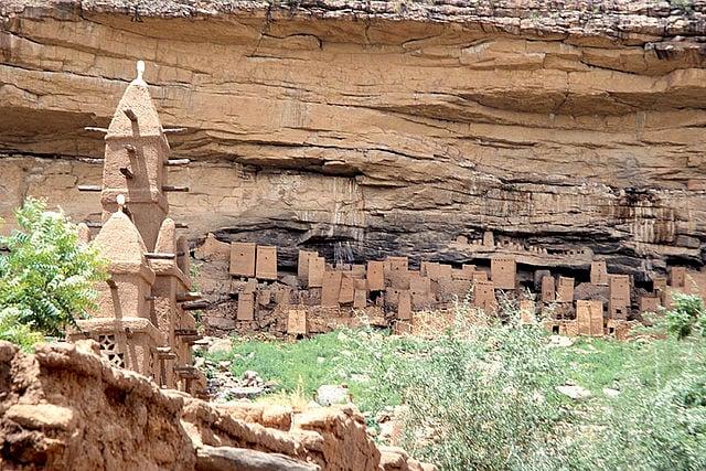 Villaggio Dogon nella falesia di Bandiagara, Mali