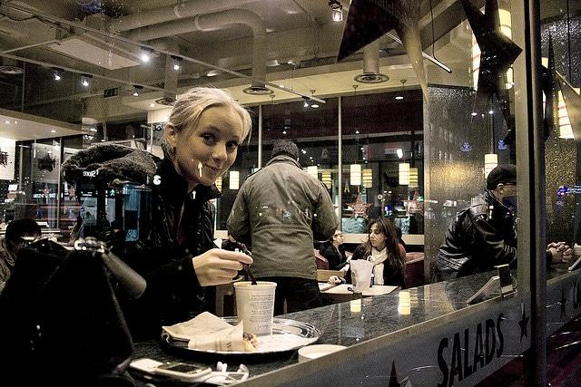 Mangiare da Pret A Manger a Londra