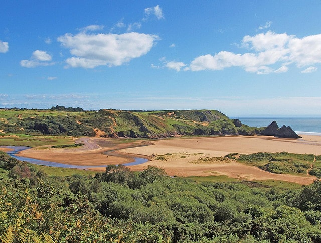 Three Cliffs Bay, Galles