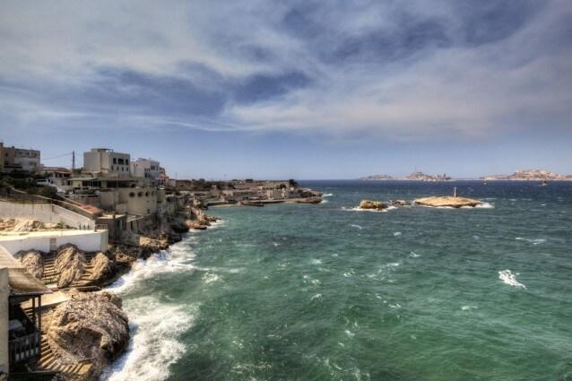 Il mare di Marsiglia in Francia
