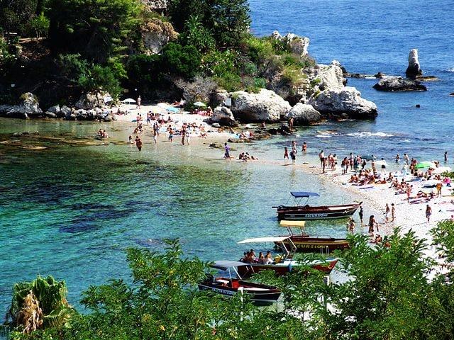 Isola Bella a Taormina, il mare