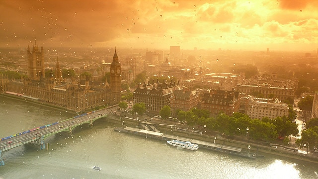 Panorama dal London Eye. Foto di Shellmush