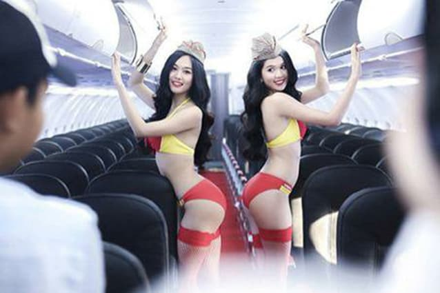 Una delle immagini postate sulla pagina Facebook della VietJet Air.