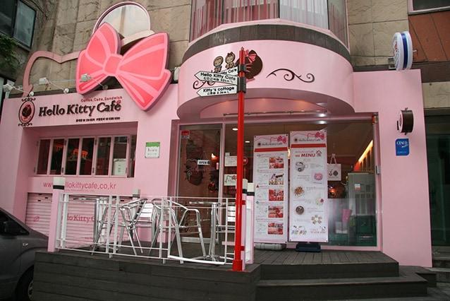 Hello Kitty Cafe a Hongdae, a Seoul.