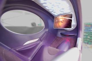 In aereo sedili come capsule spaziali: il vicino non dà più fastidio