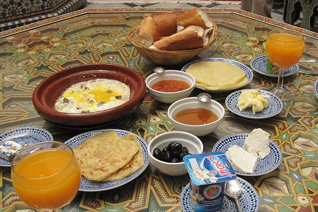 Colazione in Marocco.
