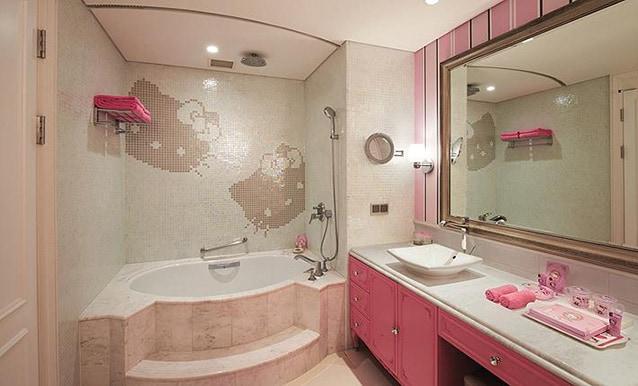 Dettaglio della Hello Kitty Princess Room del Lotte Hotels & Resort.