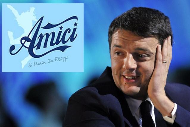 Renzi ospite al serale di amici 2013 la voce su twitter for Ospiti ad amici