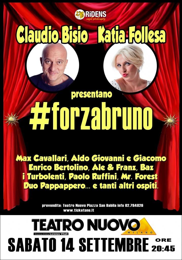 La locandina dello show che si terrà a Milano il 14 Settembre