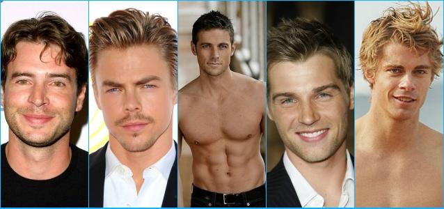 La top 5 dei più sexy della tv del 2013, da sinistra: Scott Foley, Derek Hough, Dylan Bruce,Luke Mitchell e Mike Vogel