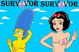 Da Marge Simpson a Biancaneve: tutte contro i tumori al seno
