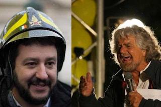 """Elezioni europee, Beppe Grillo ironizza su Matteo Salvini: """"Radio Maria e canti Gregoriani"""""""