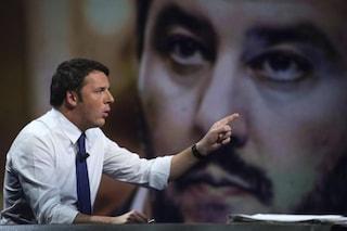 """Renzi contro Salvini: """"Non sa cos'è legalità, se Lega ha chiesto soldi ai russi è alto tradimento"""""""