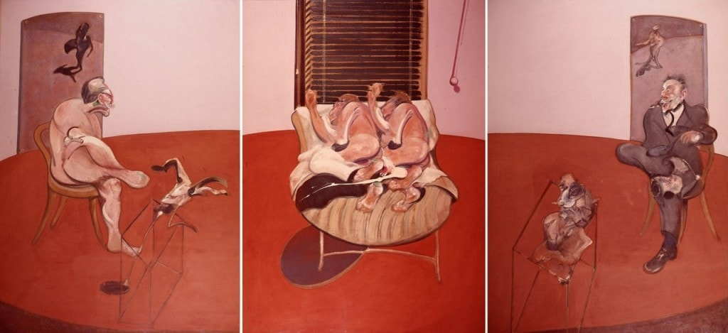 Un'opera della collezione: Francis Bacon, Two figures lying on a bed with attendants