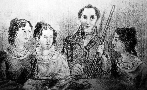 una delle rare immagini della famiglia Brontë