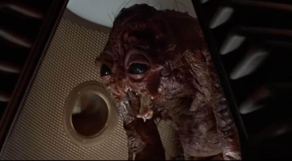 """fotogramma tratto da """"The fly"""", David Cronenberg, 1986"""