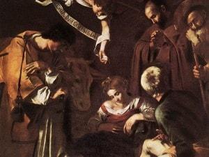 Natività con i santi Francesco e Lorenzo, Caravaggio, 1600-1609