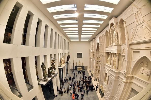 la sala dell'Antica facciata, Museo dell'Opera del Duomo, Firenze