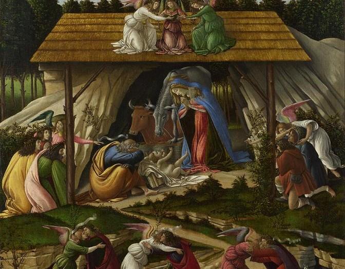 Natività Mistica (1501), particolare; Sandro Botticelli, National Gallery di Londra