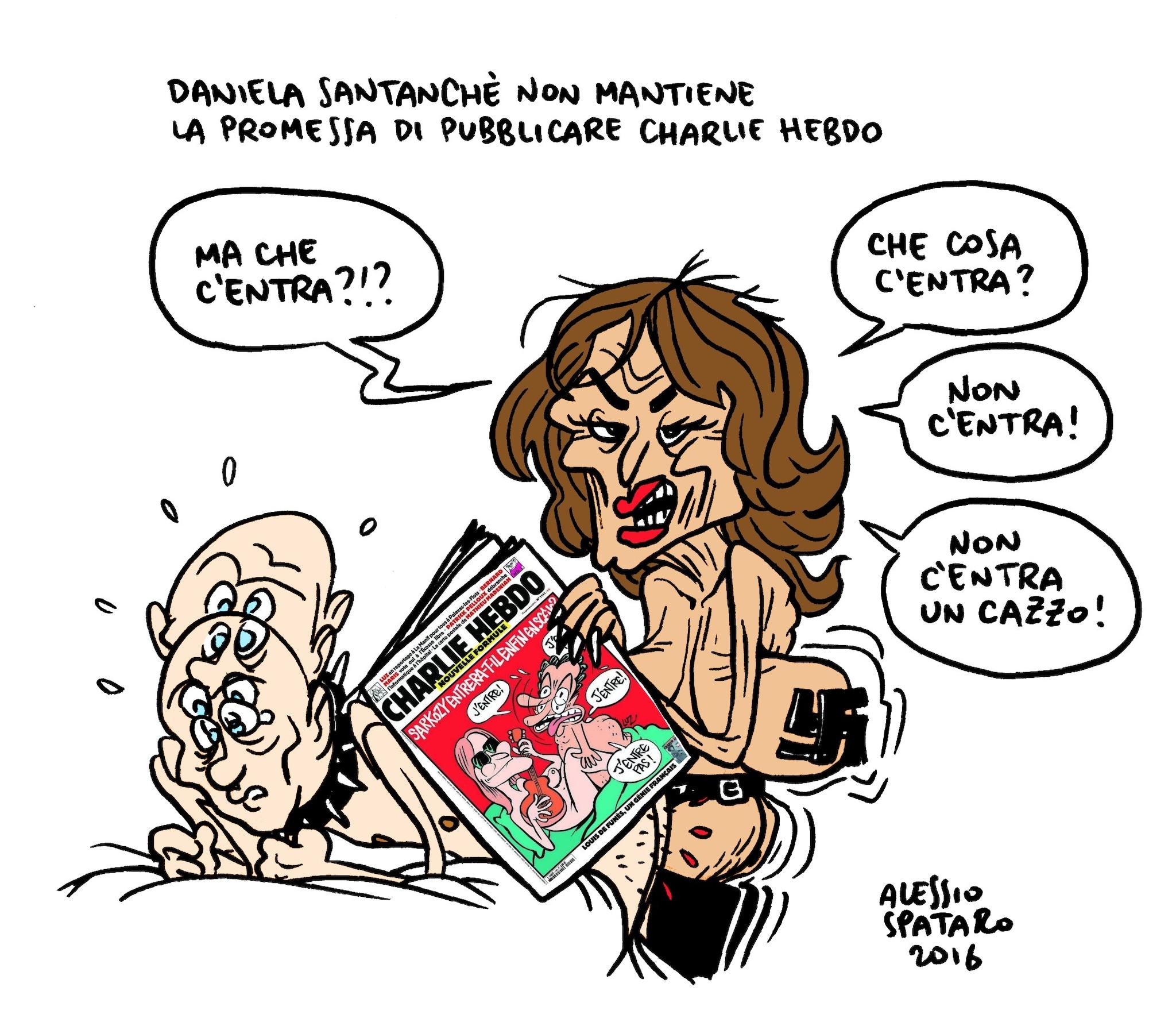 vignetta di Alessio Spataro per Fanpage.it