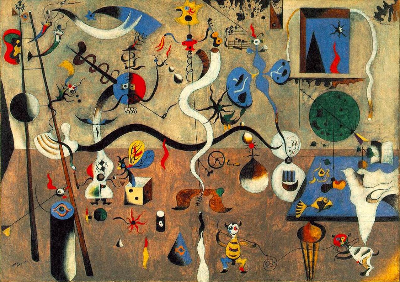 Joan-Miro, Carnevael di Arlecchino,1925