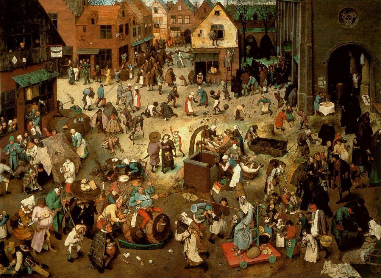 Lotta tra Carnevale e Quaresima, Pieter Bruegel