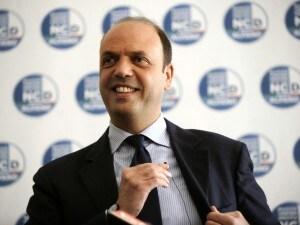 Angelino Alfano, ministro dell'Interno del governo Renzi.