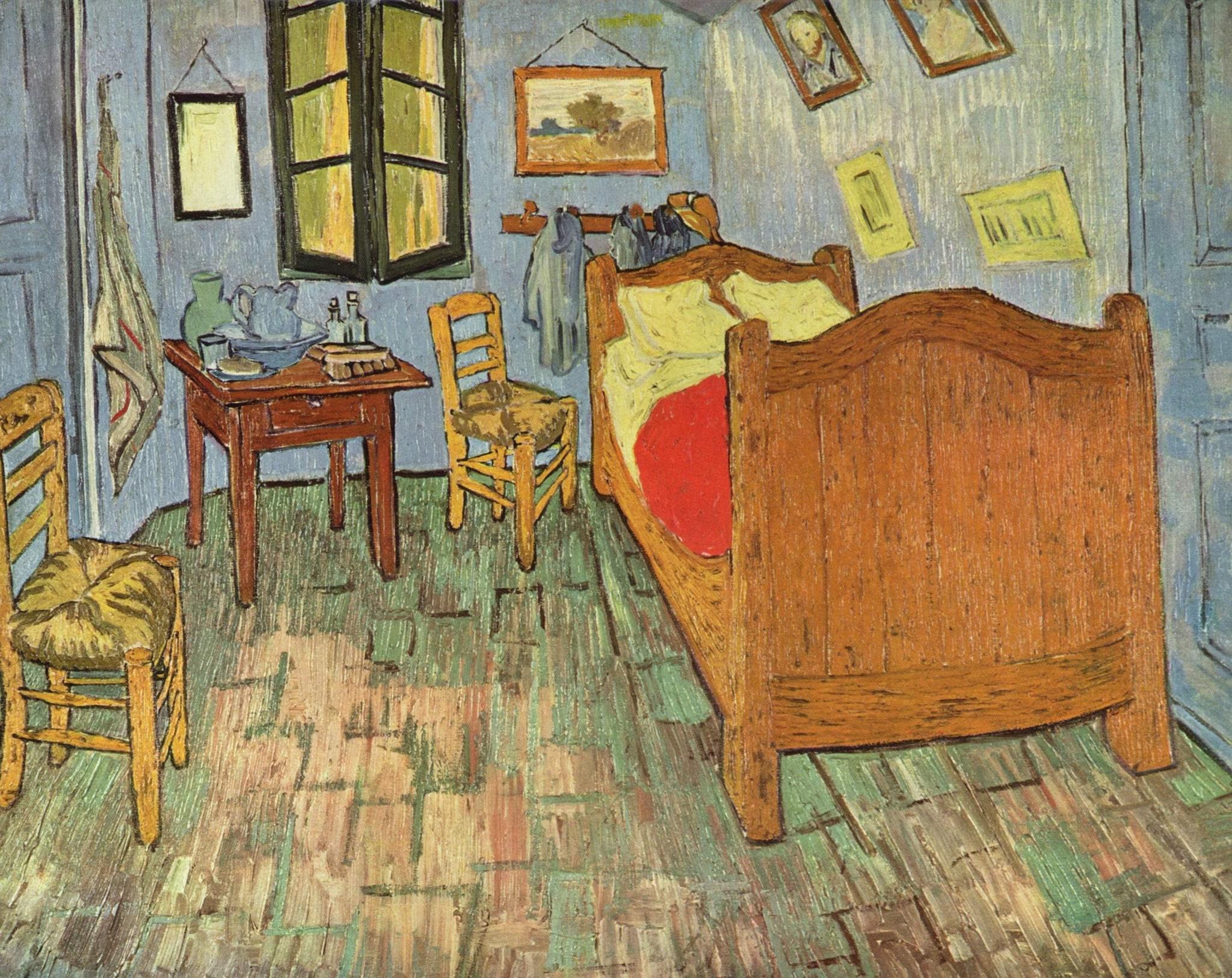 La camera da letto di Van Gogh ad Arles: i colori non sono ...