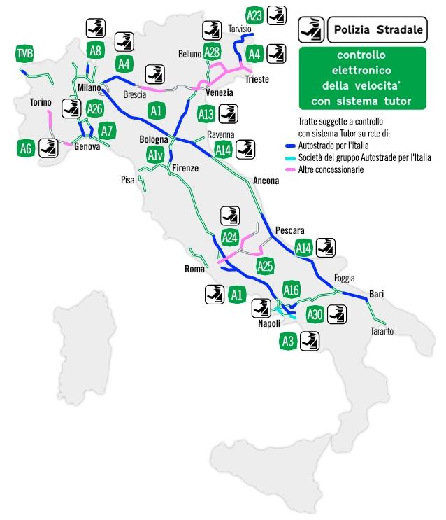 Mappa dei tutor in Italia.