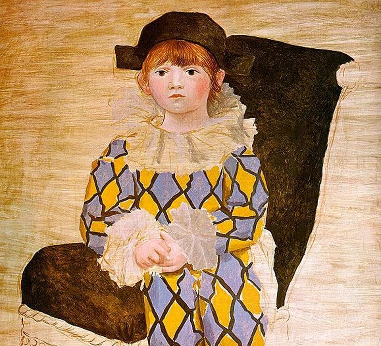 Pablo Picasso, Paulo vestito da Arlecchino