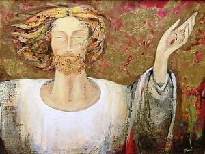 Cristo risorto, dipinto dall'artista Lucia Merli