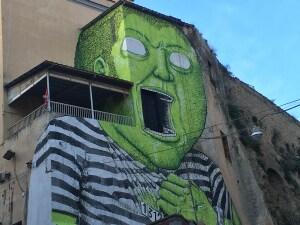 Il murale di Blu a Materdei, Napoli (foto di Valeria Iodice)