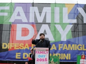 Mario Adinolfi al Family Day.