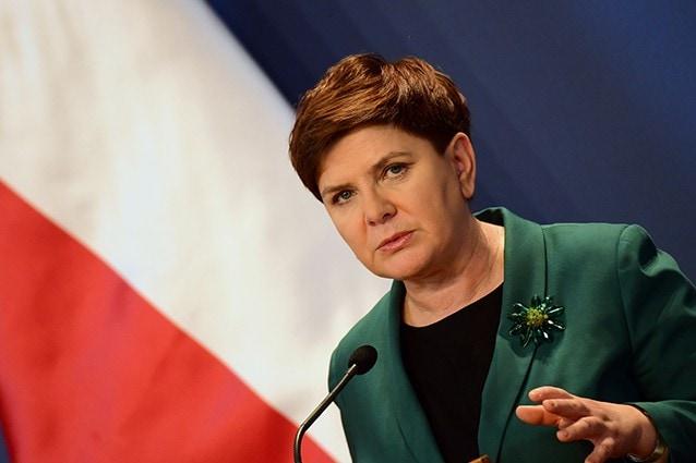 Il primo ministro polacco Beata Szydlo (@ATTILA KISBENEDEK/AFP/Getty Images).