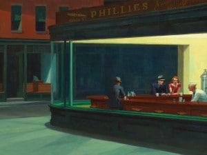 """""""Nighthawks"""", Edward Hopper (1942)"""