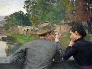 """""""Les amoureux"""" di Émile Friant (1888)"""