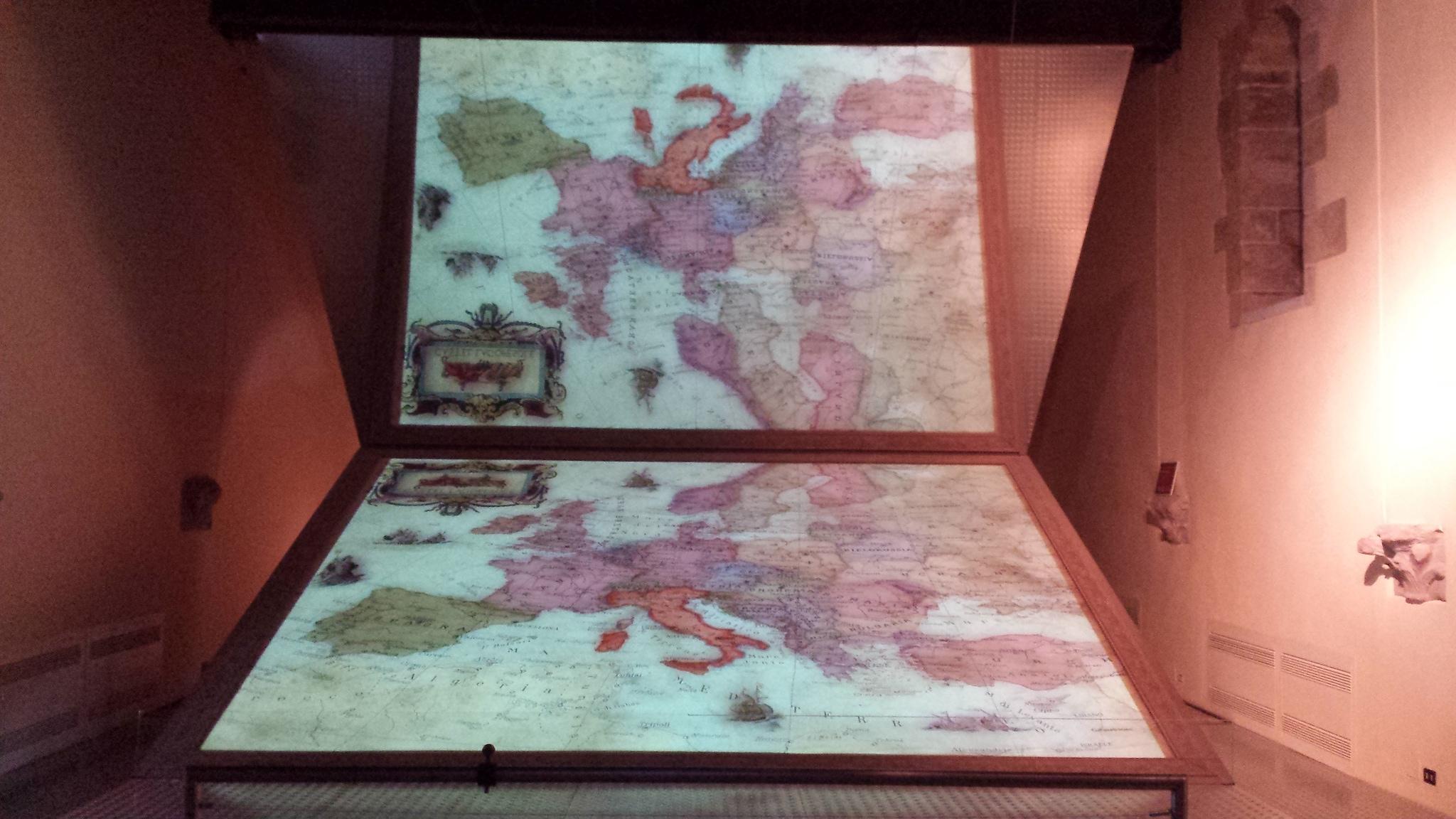 La cartina dell'Europa – Foto di Marcello Ravveduto