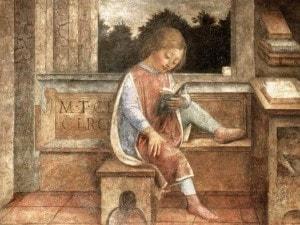 """""""Fanciullo che legge Cicerone"""", Vincenzo Foppa (1464), Wallace Collection, Londra"""