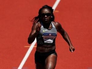Morolake Akinosun durante una gara